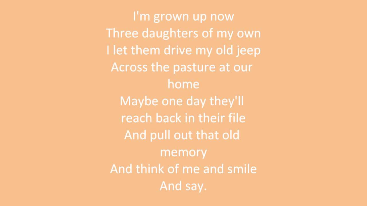 Alan Jackson - Drive for daddy gene (lyrics) - YouTube