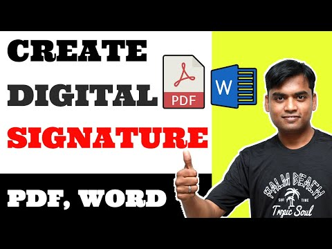 How to create digital signature on PDF, Word? ADD SIGNATURE IN PDF, WORD - 2020