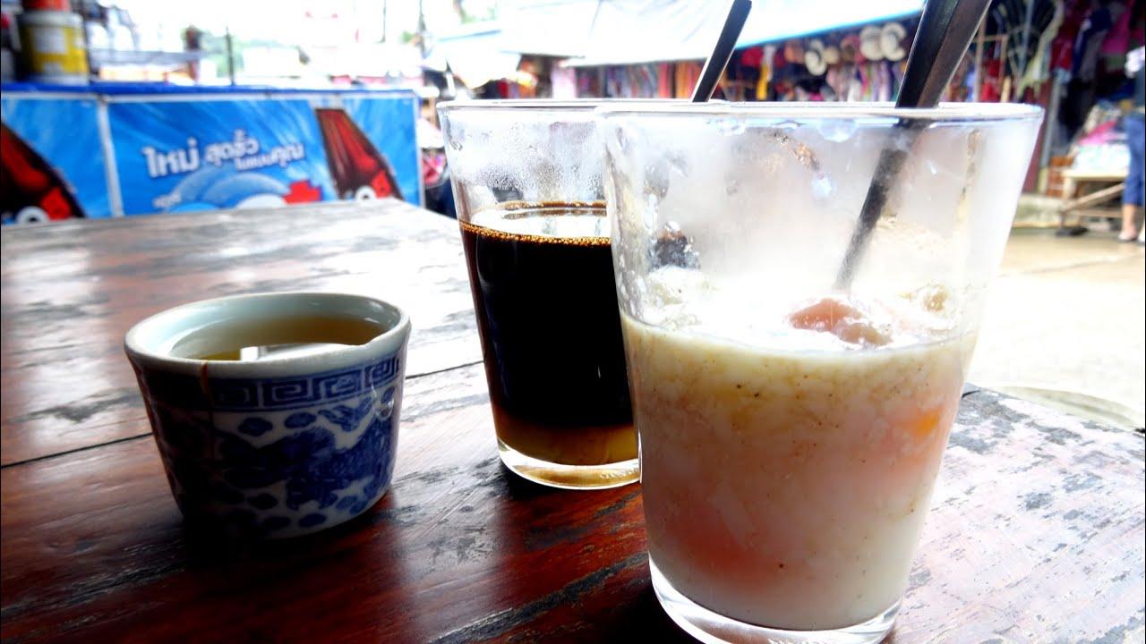 กาแฟไข่ลวก สะพานมอญ สังขละบุรี sangkhlaburi street food