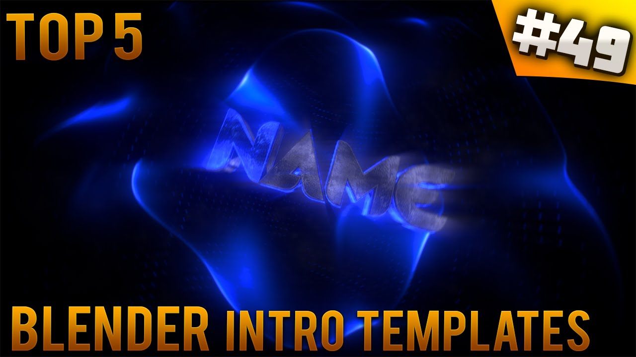 TOP 5 Blender Intro Templates #49 (Free Download)