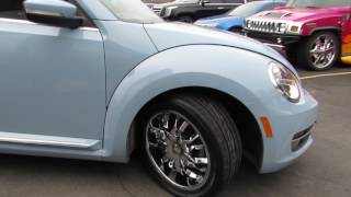 2015 VOLKSWAGEN BEETLE WITH CUSTOM 18 INCH CHROME RIMS & TIRES