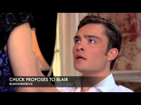 Chuck proposes to Blair YouTube