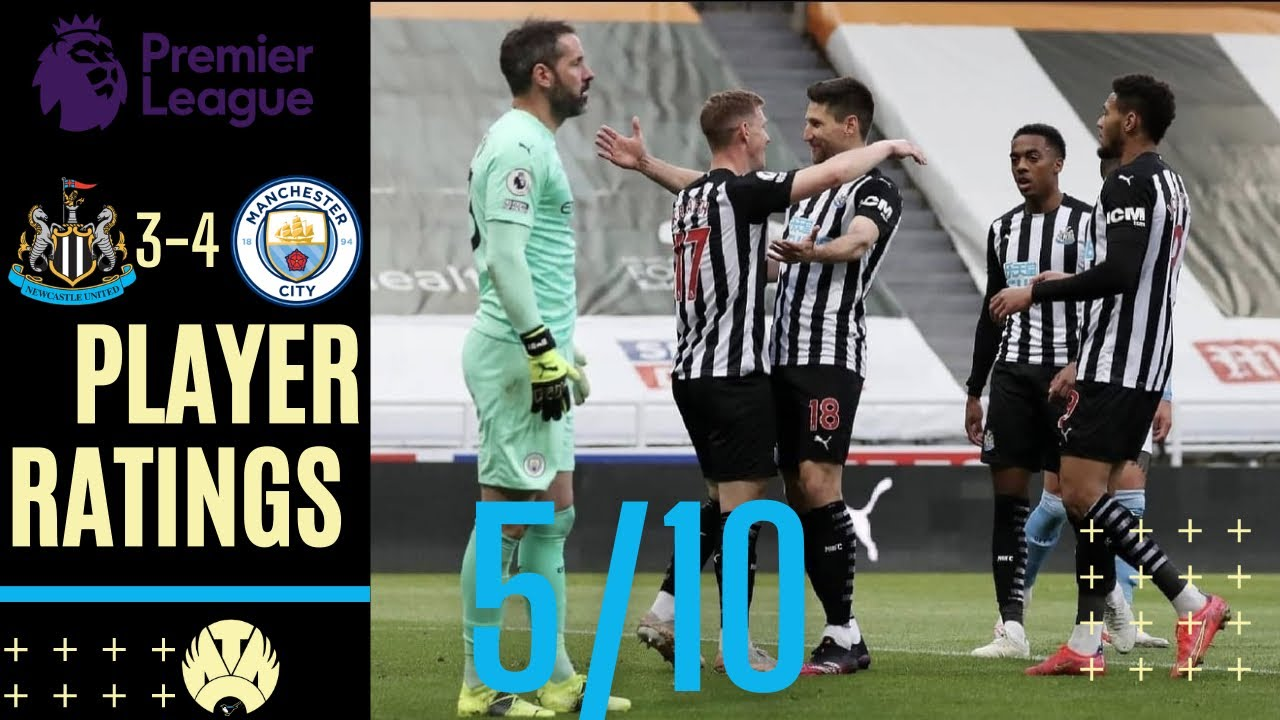 Player Ratings: Newcastle United 3-4 Manchester City (Premier ...