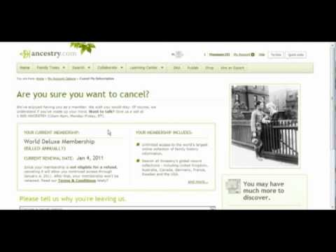 How to Cancel an Ancestry Account - YouTube - support ancestry com