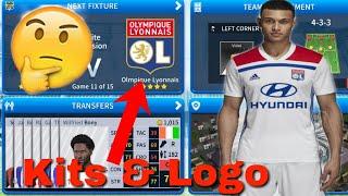 How to create Olympique Lyonnais team 2019  kits & logo | Dream League Soccer 2019