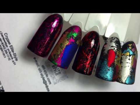 Дизайн ногтей: переводная фольга на гель-лак