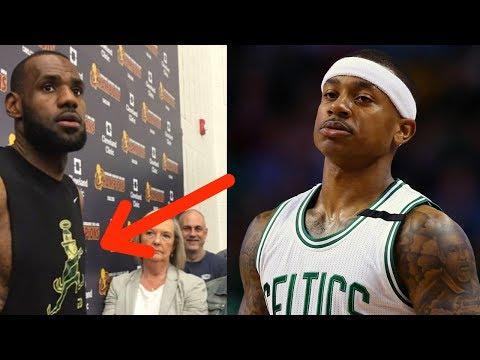 LeBron James TROLLS Isaiah Thomas and Celtics with Leprechaun Shirt at Practice