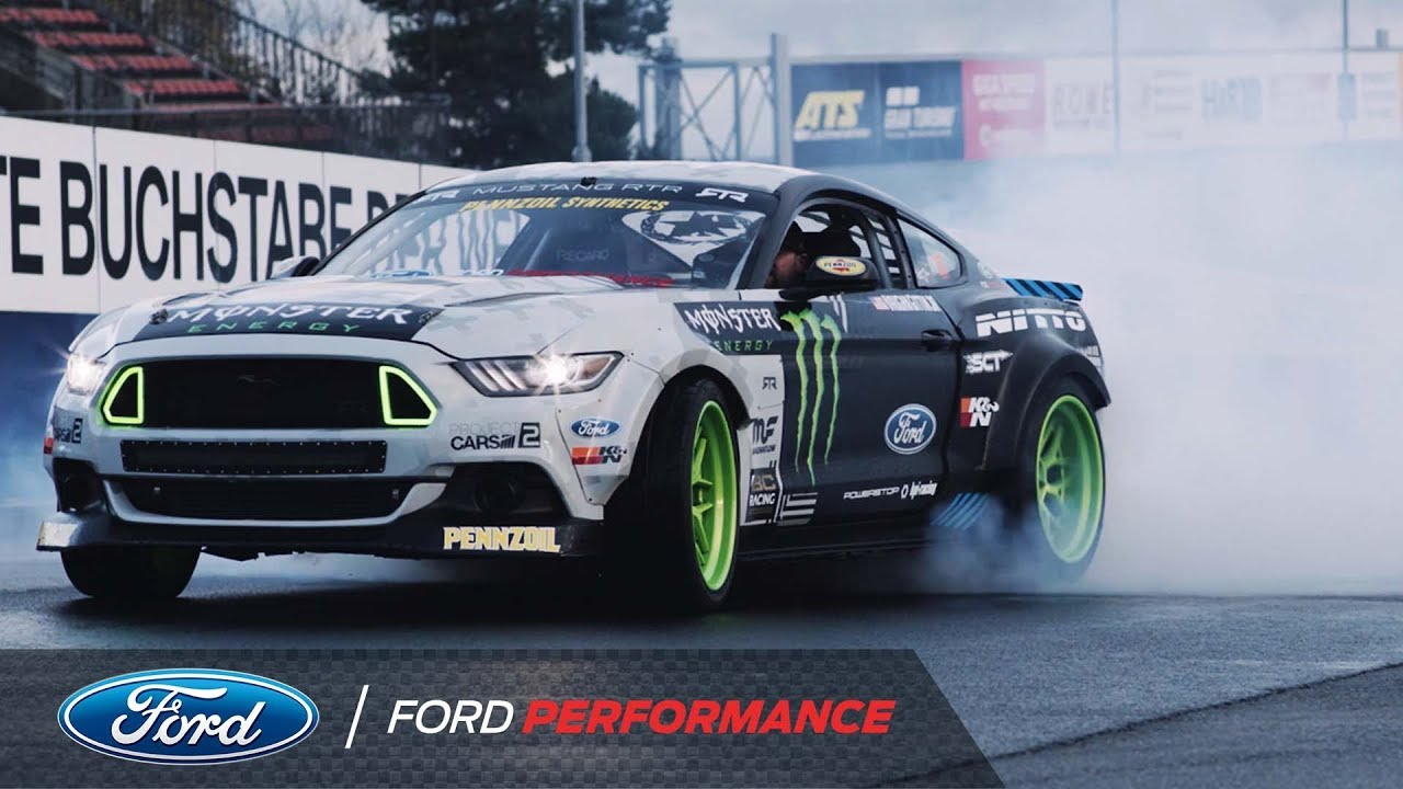 Vaughn gittin jr will drift the nurburgring in a ford mustang rtr ford performance