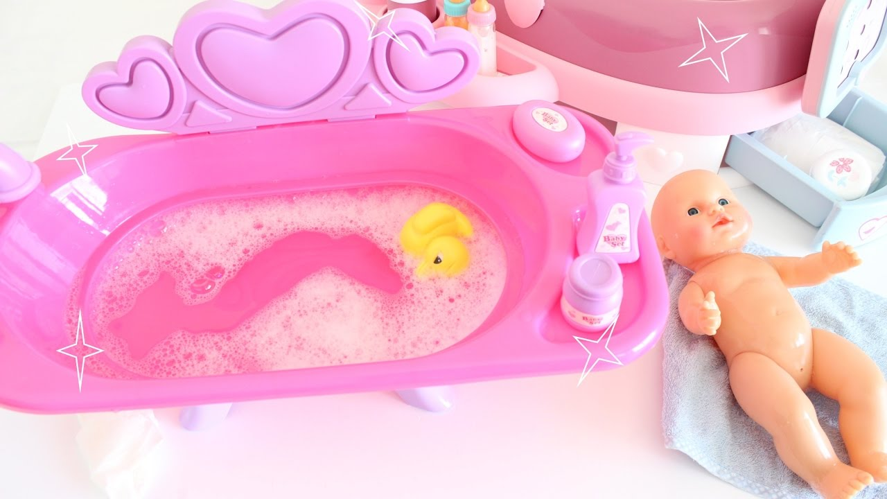 Baby Doll Pink Bath Tub Unboxing Tia Tia Youtube