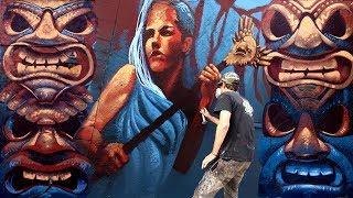 Custom Fantasy Backyard Mural - Los Angeles | Kiptoe