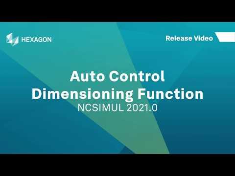 Auto Control - Dimensioning Function | NCSIMUL 2021