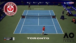 🏸 STEFANOS TSITSIPAS VS ALEXANDER ZVEREV | ROGERS CUP 2018 | AO INTERNATIONAL TENNIS 2018 |GAMEPLAY