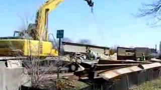 Bridge Construction  In Oak Brook Over Salt Creek