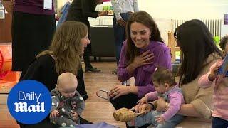 The Duchess of Cambridge visits South London Children's Centre
