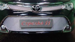 Защита радиатора PREMIUM TOYOTA CAMRY VII (XV50) рестайлинг 2015-н.в. (Хром) - strelka11.ru