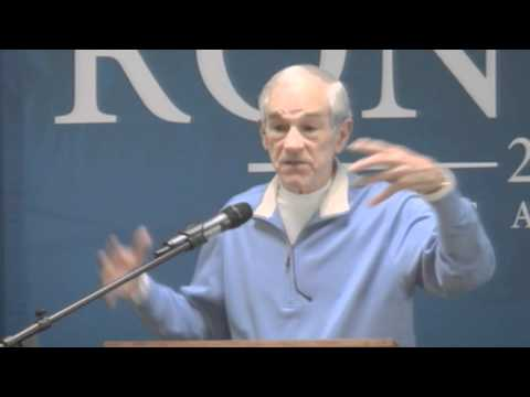 Ron Paul presenting to the University of Southern Maine