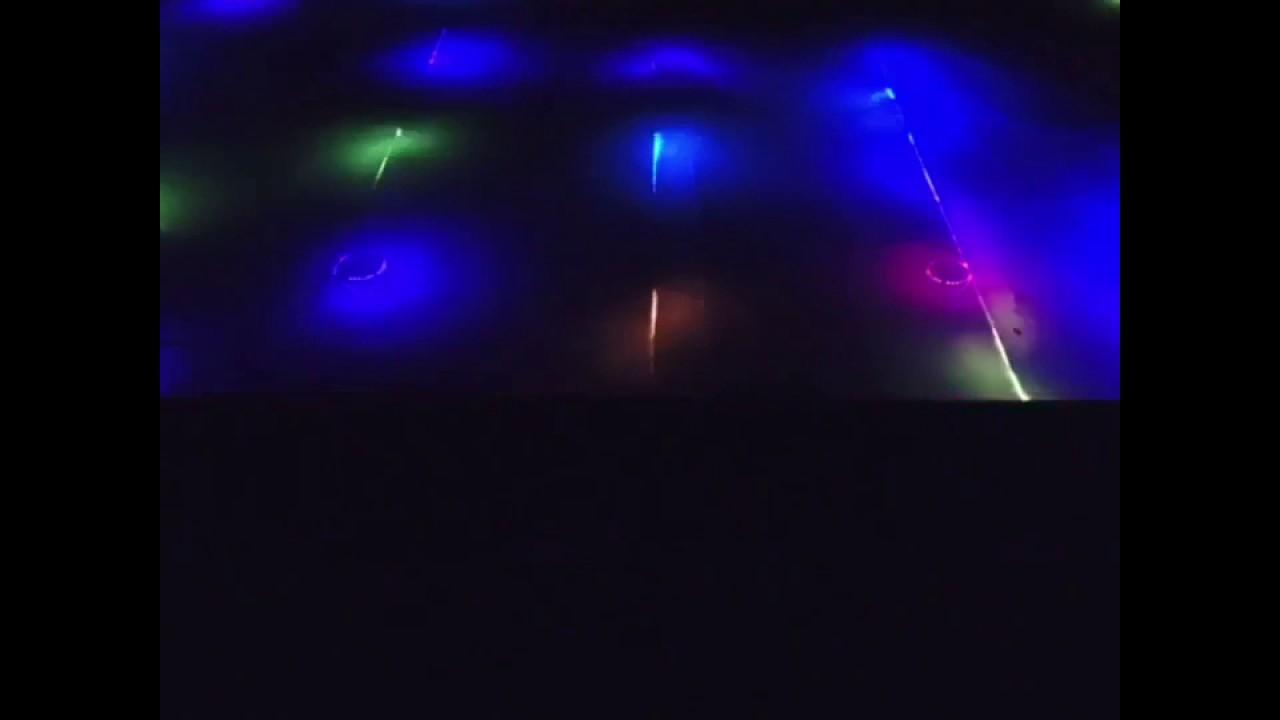 led lights frozen in ice rink minnesota youtube