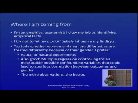 Gender Bias in Science: Where It Is and Where It Isn't - Shulamit Kahn