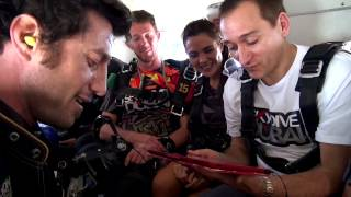 Paul Van Dyk skydiving at Skydive Dubai