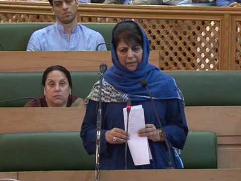 C.M Mehbooba Mufti speaking in State Assembly on 17th June 2017