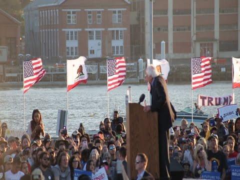 Bernie Sanders Vallejo full speech 5-18-2016 (HD) Trump Boat Best Quality