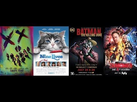 AJ's Movie Reviews: Suicide Squad, Nine Lives, The Killing Joke & Sharknado 4(8-5-16)