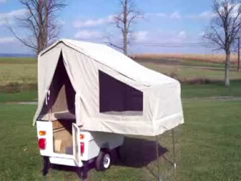 Kompact Kamp Mini Mate motorcycle camper trailer set up YouTube