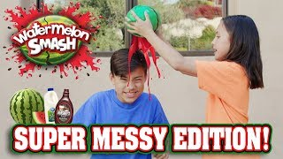 WATERMELON SMASH CHALLENGE!!! Super Messy Edition!