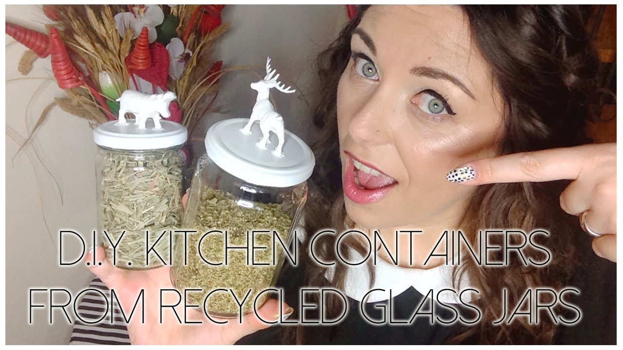 d i y kitchen containers from recycled glass jars contenitori d i y kitchen containers from recycled glass jars contenitori per la cucina da vasetti vuoti youtube