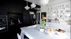 Interior Design — Unique High-Contrast Small Vintage Kitchen