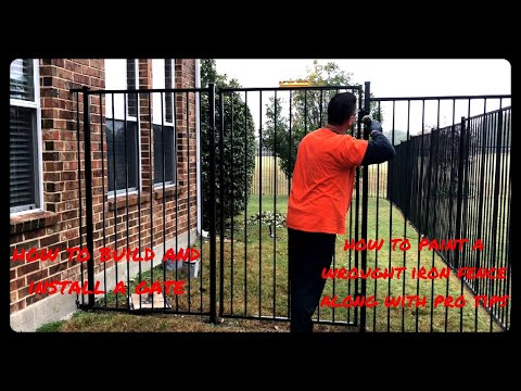 Wrought Iron Gate Build and Replace | Wrought Iron Fence Paint