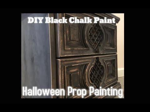 Halloween Prop Painting Tips – Black Chalk Paint Recipe for Wood, Metal, Fabric & Plastic