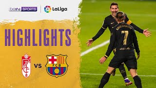 Granada 0-4 Barcelona | LaLiga 20/21 Match Highlights