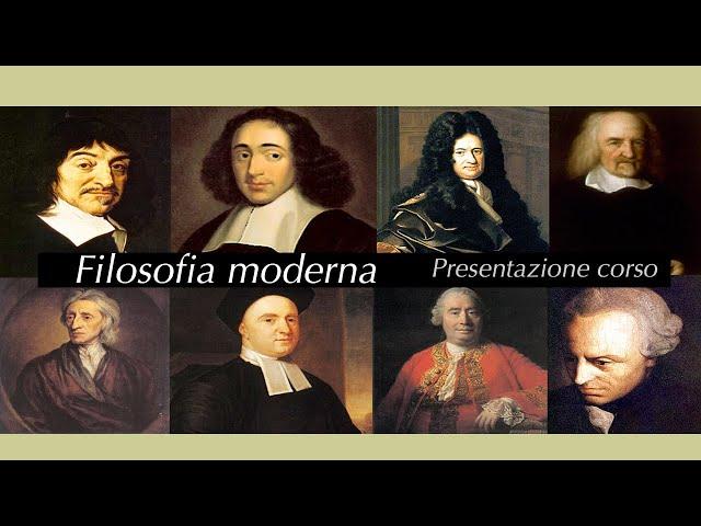 Filosofia moderna - presentazione corso