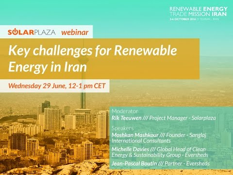 Webinar: Key challenges for Renewable Energy in Iran