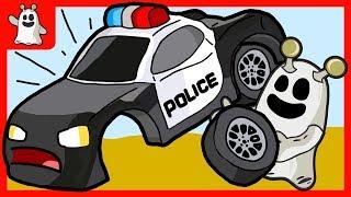 Igo The Friendly Ghost Assemble Toy Police Car Cartoons For Kids