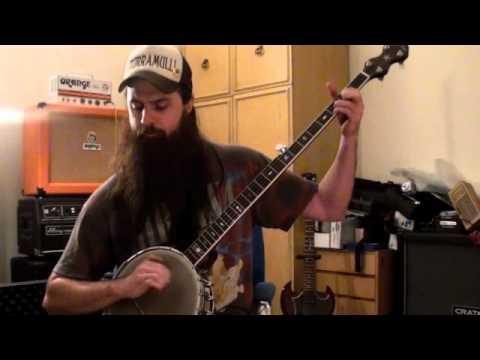 Darlin' Corey on my Gold Tone long neck open back banjo