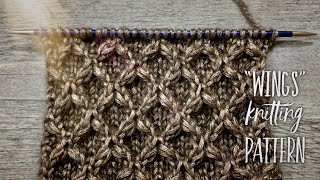 "ШИКАРНЫЙ УЗОР СПИЦАМИ ""WINGS"" с ЭФФЕКТОМ КЛОКЕ / Beautiful knitting pattern"