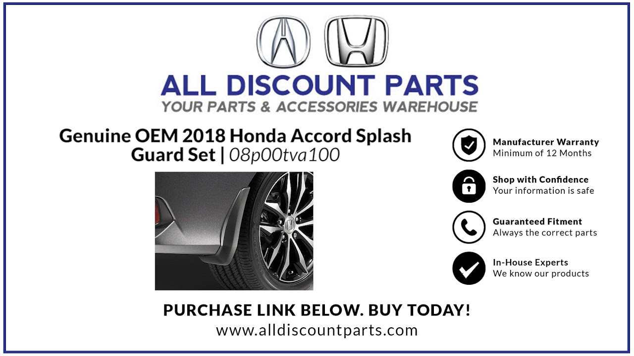 Accord Sedan All Season Rubber Floor Mat Set 08P13-T2A-110 Genuine Honda OEM