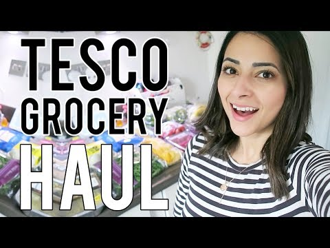 TESCO GROCERY HAUL UK  Weekly Food Shop for a Family of Four  Ysis Lorenna