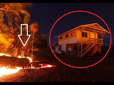 2018 Hawaiian Kilauea Eruption Compilation - House consumed by Lava