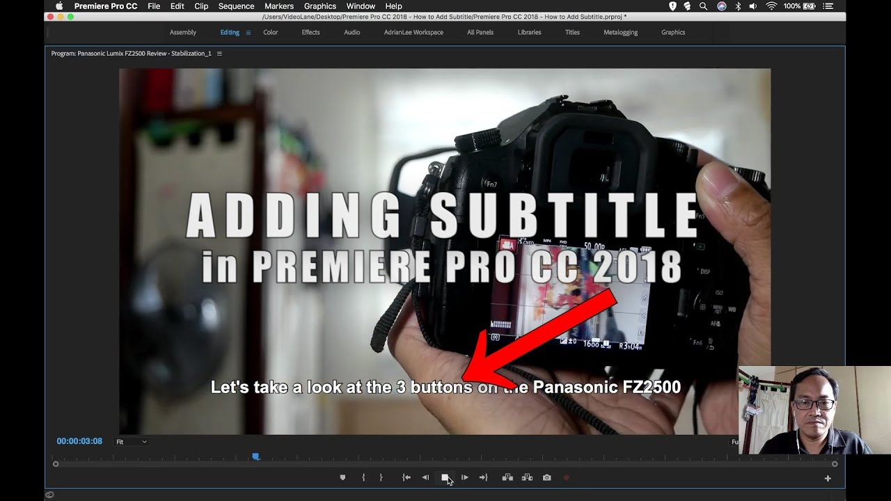 How to add subtitle in premiere pro cc 2018 youtube how to add subtitle in premiere pro cc 2018 ccuart Image collections