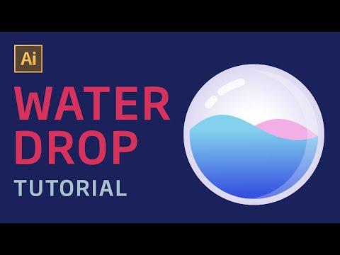 Tutorial Desain Water Drop Illustration Adobe Illustrator Indonesia thumbnail