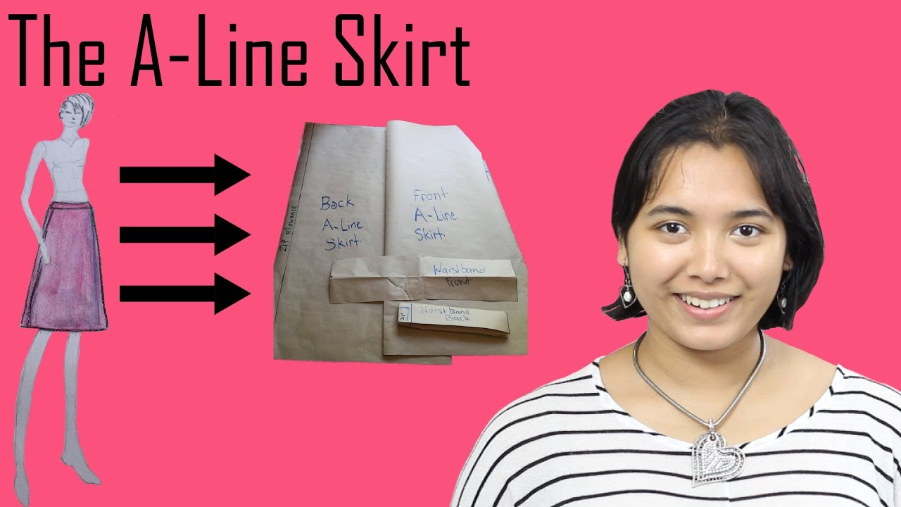 DIY- Basic Pattern Tutorial: The A-line Skirt - YouTube