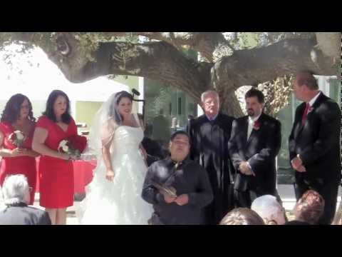 Jill & Miles Lang Ceremony at Chumash Museum Thousand Oaks