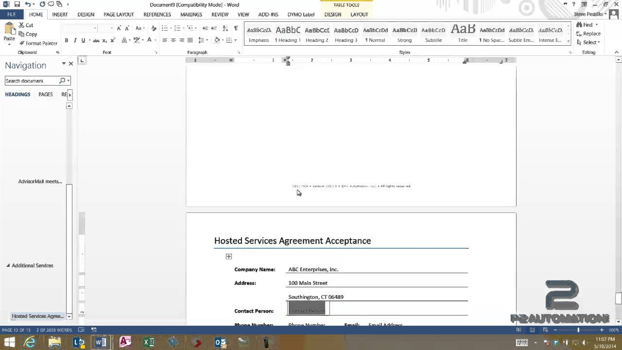 using word templates to create a simple contract youtube