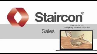3D Stair Software: Staircon Sales Designing a curved stair