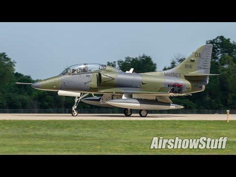 Warbird Arrivals and Departures - Monday (Part 2) - EAA AirVenture Oshkosh 2017