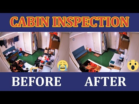 Ship's Cabin Inspection Before and after condition II Cabin inspection onboard.