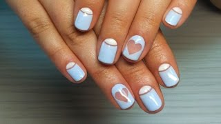 Дизайн ногтей гель-лак shellac - Лунный маникюр + роспись ногтей (видео уроки дизайна ногтей)